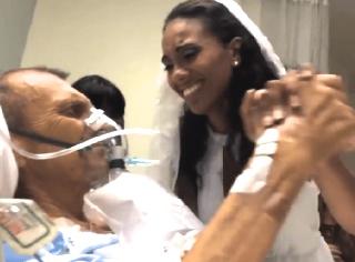 【感動動画】病室で行われた結婚式。花嫁と父とのラスト・ダンスに涙が止まらない