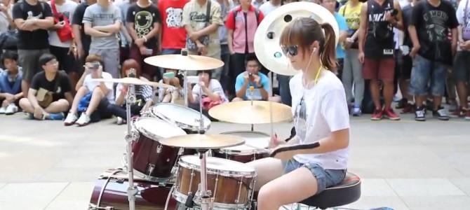 【BIG BANG】をドラム演奏する美少女発見!!