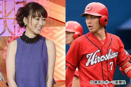 【速報】広島の堂林翔太(23)がTBSの枡田絵理奈アナウンサー(28)と結婚♡