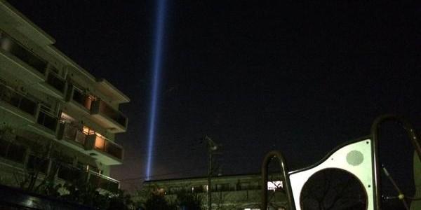 武蔵小杉で謎の光が出現しネットで話題に!その光の正体とは…?