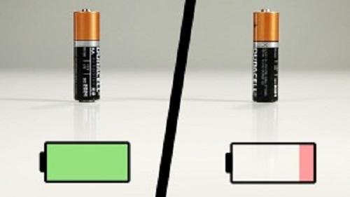 電池の充電が簡単にわかる方法