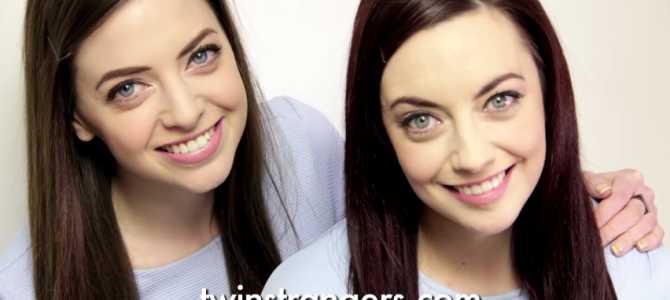 この2人「双子」ではない。全くの他人?