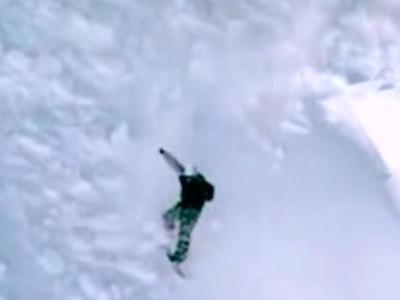 雪山でサーフィン!?