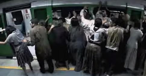 もし地下鉄でゾンビに襲われると人はどうなる??