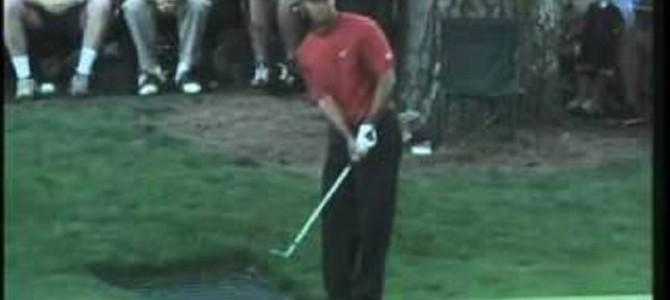 【神技】ゴルフ選手権でタイガー・ウッズが決めた伝説のショットが凄い!