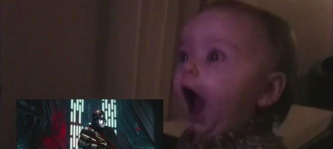 赤ちゃんに「スター・ウォーズ エピソード7」の予告編を見せときの反応が想像以上に可愛い