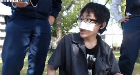 ニコ生で有名な15歳の「ノエル」さんが、国会付近でドローンを飛ばそうとして警察に聴取される中継映像
