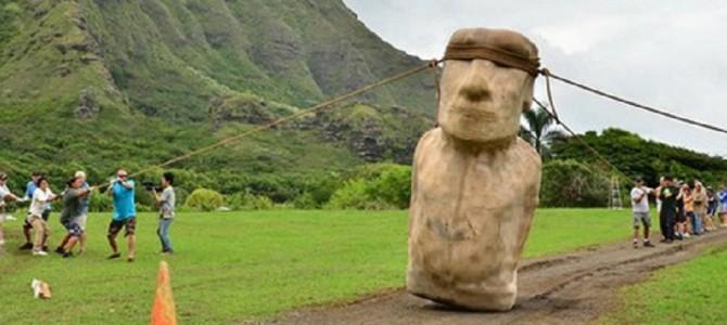 歩くモアイ像!古代の人々がモアイ像を移動した驚きの方法とは?
