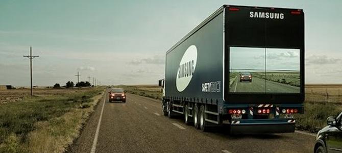 前方の様子がモニターで見える「透明トラック」が画期的!交通事故が減るかも?