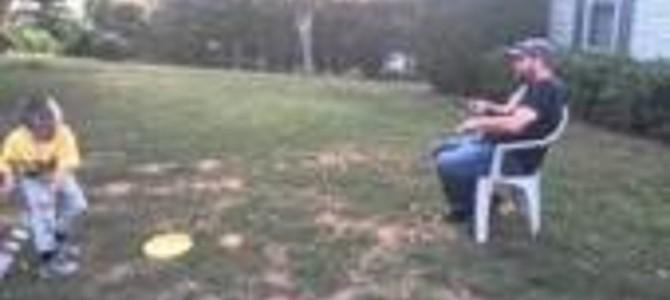 ボールを取りに行くのが面倒くさいパパが考えたトレーニング方法w