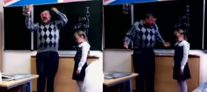 少女がまさかの反撃!頭を小突きながら陰湿に叱る先生を襲った悲劇とは?