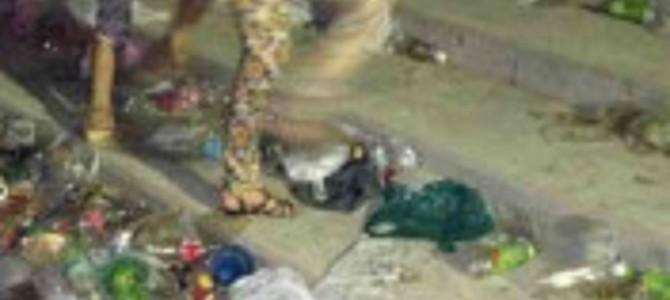 淀川花火大会後、毎年河川敷はゴミだらけ…運営側の「意向」に考えさせられる