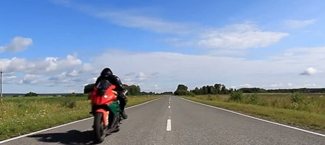 7秒後、バイク通過で撮影者がビビる!!