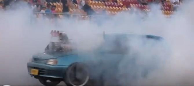 ダイハツの自動車にV8エンジンを搭載してみた!!