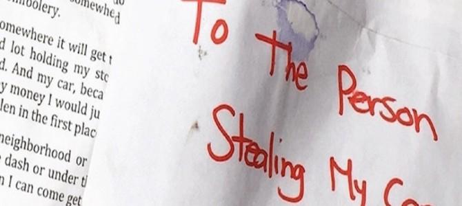 「車を盗んだ犯人へ」…○○に忍ばせて置いたドライバーの手紙が秀逸すぎた