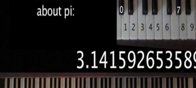 円周率「3.1415…」を鍵盤に置き換えて演奏したら、予想以上に美しいメロディーで驚き!