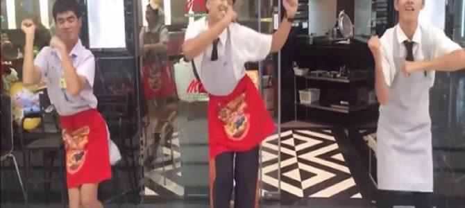 タイのレストランチェーンで毎日行われる『MKダンス』