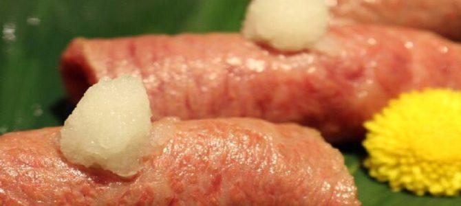 お店みたいに出来る「お肉寿司」が美味しすぎる!レシピ