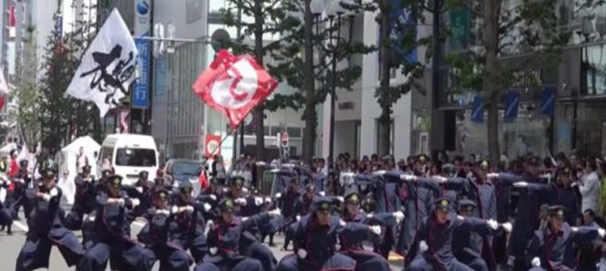 カッコイイと話題になったJR九州の職員によるよさこいチーム「櫻燕隊」がまたやってくれた!キレッキレのパフォーマンスで大賞二連覇を達成!