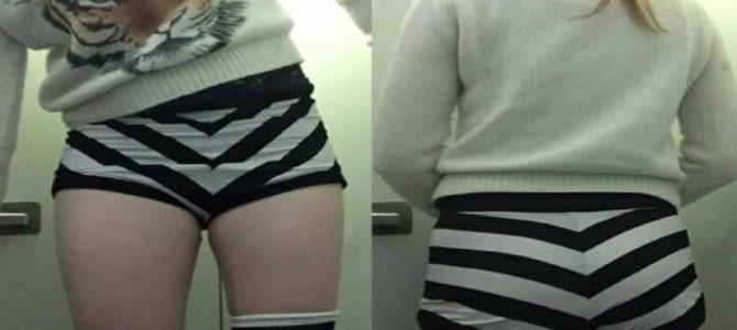 パンツが短すぎて飛行機搭乗拒否!?