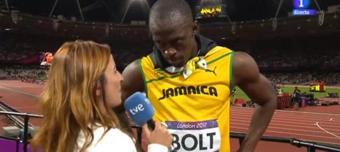 世界一は違う、、ボルト選手が相手国の「国歌斉唱」にインタビュー中断。敬意を払う姿が話題に!