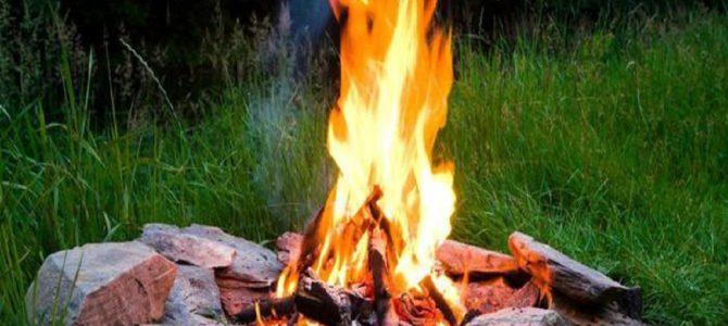 空き缶とチョコレートを使って火を起こす