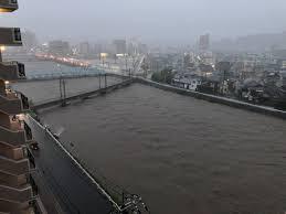 瀬野駅 水没!避難指示も 瀬野川が氾濫