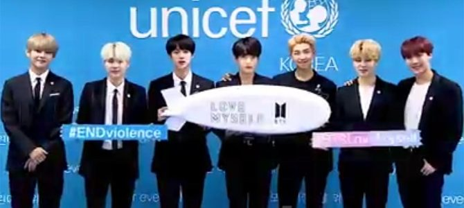 韓国アイドルBTSがユニセフ事務所に「ミサイル型看板」持ち込み問題視 → 世界的大批判
