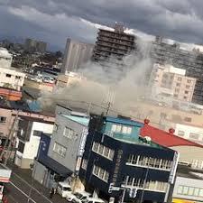 北海道札幌市中央区北1条東で火事
