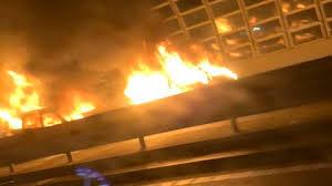京葉道路で車両火災 野木JCT(ジャンクション)~貝塚IC(インターチェンジ)間で衝突事故