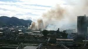 沼津駅付近で火事 大量の煙が周辺に充満