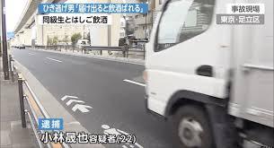 【足立区江北の都道で酒気帯び】小林晟也ら 顔画像や動機は?