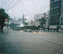 【大雨で冠水】鹿児島市東谷山付近で道路冠水