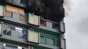 兵庫県尼崎市口田中1丁目の団地で火事