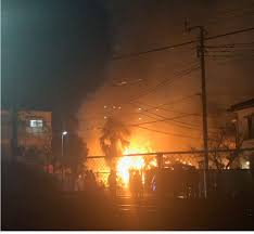 千葉市中央区南町の蘇我駅付近で火事