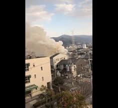 大阪府大東市野崎で火事