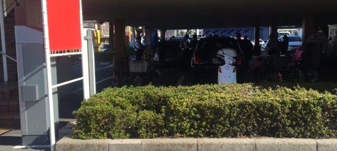 広島県広島市西区三篠町のロイヤルホストの駐車場で女の子が祖父が運転する車に挟まれ死亡する事故
