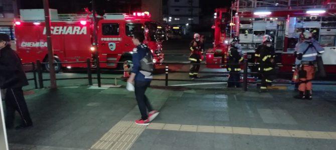 小田急小田原線の伊勢原駅で人身事故