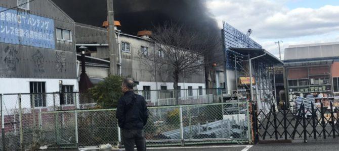 兵庫県神戸市西区伊川谷町の工場で火事