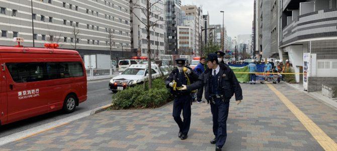 東京都新宿区新宿で飛び降り自殺