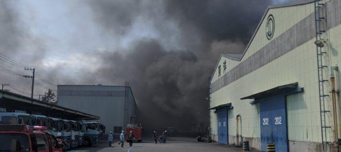 千葉県船橋市栄町の工場「東洋電業」で火事