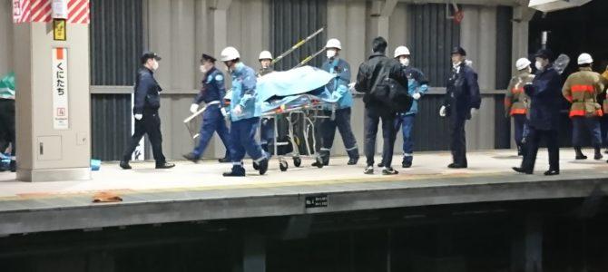 中央線の国立駅で人身事故