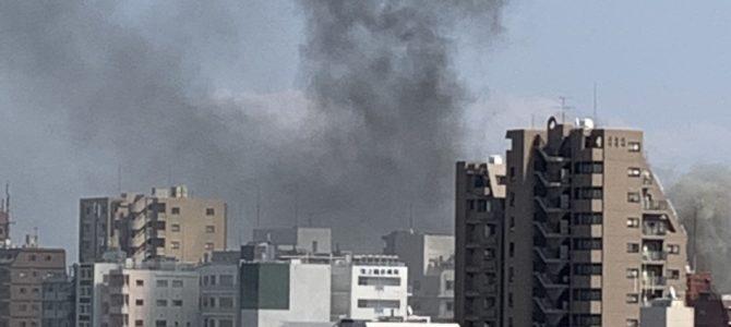 東京都大田区池上の池上駅付近で火事