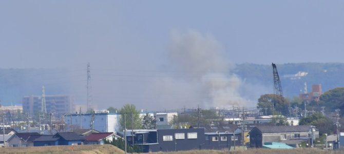 愛知県春日井市八幡町で大規模な火事