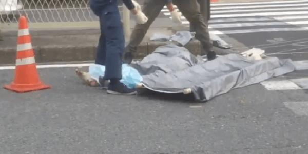 大阪府住吉区長居で歩行者がダンプカーにはねられる死亡事故