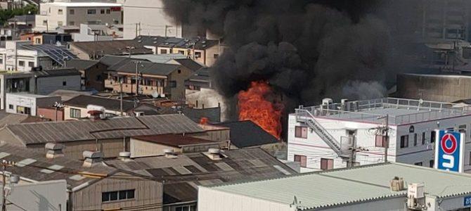 大阪府大阪市西淀川区で大規模な火事