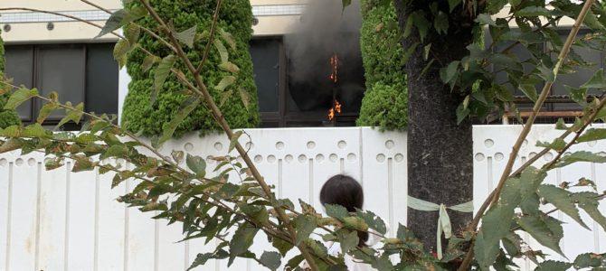 大阪府大阪市北区東天満の堀川小学校で火事