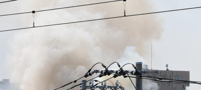 神奈川県川崎市高津区溝口で大規模な火事