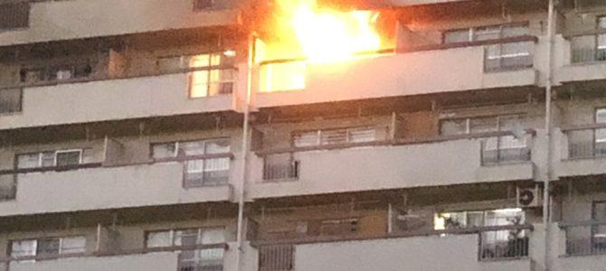 東京都板橋区高島平の団地で火災