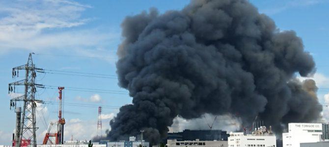 千葉県船橋市浜町で大規模な火事